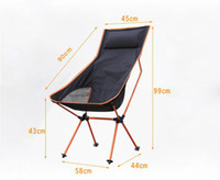 Wholesale Red Beach Chair - Wholesale-2016 new Portable Ultralight Collapsible Moon Leisure Camping Chair with Bag for Outdoor Hiking Travel Picnic BBQ Beach Fishing