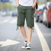Wholesale Sale Men Regular New Arrival Fashion Plaid Beach Mens Casual Camo Camouflage Shorts Military Short Pants Male Cargo Overalls