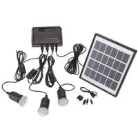 Großhandel-Outdoor Solar Power Panel LED Licht Lampe USB Ladegerät Home System Kit Gartenpfad