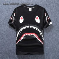 Wholesale Woman S Sweaters Cheap - Production Customize Tide Shark Printing Sweater Men And Women Increase Down Even Hat Loose Coat . cheap cds