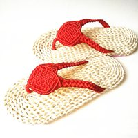 Wholesale Open Ventilation - Famous Women's Flat Heel Flip Flops Sandals Spring Casual Ventilation Comfortable Handmade Corn Leather Sandals Characteristic Chinese Knot