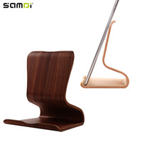 Wholesale wooden tablet stand for sale - Group buy SAMDI Ultra Thin Lightweight Protable Wooden Tablet Computer Holder Stand Support for iPad Tablet PC
