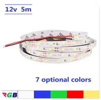 Wholesale Led Strip Light Pack - 5meter pack LED Strip light 5m SMD 2835 More Brighter Than SMD3528 SMD5050 Flexible Bulb DC 12V 300LEDs Home Decorative Tape Lamp Lighting