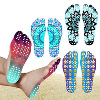 Wholesale Smile Stick - Beach Invisible Anti Slip Insoles Starry Emoji Smile Mandala Nakefit Thermal Insulation Waterproof Soles Stick On Feet Pads Socks OOA2264