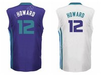 Wholesale Flash For Sale - Newest Dwight Howard 12 Custom Purple White Basketball Jerseys Cheap Dwight Howard Jersey Men For Sport Fans Breathable Top Quality On Sale