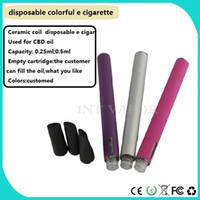 Wholesale Refills Pipes - colordul vape Pen Disposable Electronic Cigarette Pipe Pen Cigar 350mah capacity refill oil disposable e cigars-03