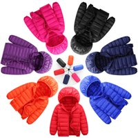 Wholesale Thin Korean Girls - Children's ultra-thin models down jacket new autumn and winter new childrens clothing Korean version of the down jacket boys and girls hood