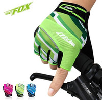 Wholesale white summer gloves resale online - 2017 Summer Nylon Gel Cycling Gloves Half Finger Nylon Road MTB Bike Sports Gloves Breathable Sport Bicycle Gloves Guantes Ciclismo