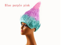Wholesale wig supplies free shipping - 1pcs Free shipping Trolls Poppy Wig For Kids 35cm Wig Children Cosplay Party Supplies Trolls Wig 12 color