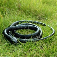 Wholesale Realistic Rubber Snake - Halloween Realistic Soft Rubber Toy Snake Safari Garden Props Joke Prank Gift About 130cm Novelty and Gag Playing Jokes Toys