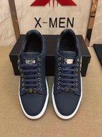 Wholesale Mens Hip Hop Shoes - Hot Sale PP Designer Shoes Men High Quality Hip Hop Shoe Skull Mens Metal Shoes Casual Luxury Brand Famous Leather Shoes Male #41