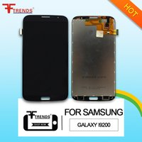 Wholesale Mega Panel - for Samsung Galaxy Mega 6.3 i9200 i9205 LCD Touch Screen with Digitizer Assembly Black and White Color Fast DHL Shipping
