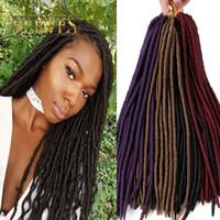 Wholesale mixed synthetic hair weave - VERVES 18 inch crochet hair faux locs dreadlocks braids havana mambo twist crochet braid dread hair extensions synthetic weave