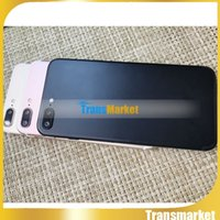"""Wholesale Cheapest Android 4g - Cheapest Goophone i7 plus copy cell phones 5.5"""" MTK6572 Dual Core 512M 512M show 4g lte Show 1G 64G 500 camera android Smartphone Metal Body"""