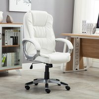 Compra Sedie Del Computer Bianco-Bianco Faux Leather Moderna Executive Computer Conference Desk Office Task Chair