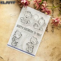 Wholesale Bear Photo Album - Wholesale- KLJUYP Lovely Bear Transparent Clear Silicone Stamp Seal for DIY scrapbooking photo album Decorative clear stamp sheets