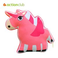Venta al por mayor- Actionclub 2016 Animal Shape Pillows Niños Juguetes Casa Elefante Decorativo León Cartoon Estilo Cojins Soft Peluche Juguetes Para Bebé Abrazo