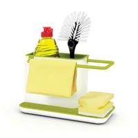 Wholesale Wholesale Spice Racks - Storage Rack Multi Function Utensil Fashion Finishing Slot Place Sponge Holder Sundries Shelf Easy To Clean Kitchen Racks 6py F R