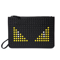 Wholesale Bag Fashion Clutch Envelope - Fashion personality little monsters pu material clutch bag new design monster printing bag wholesale leather clutch bag