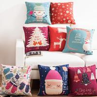 navidad serie rbol rojo santa claus ciervo mueco de nieve campana decorativas cojines de almohadas para el sof navidad casa decoracin cojines cubierta