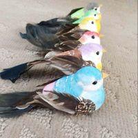 Wholesale Bird Christmas Ornaments - 12*4*4CM,12PCS decorative Artificial Foam Feather Birds With Clip For decor,Small Bird Decorations Craft,Christmas Ornament HWD06