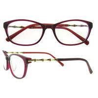 Wholesale Stereoscopic Glasses - Stereoscopic bamboo shape metal Glasses Frames never fade Vintage Classic Ultra-light and slim Eyeglasses Frames Eyewear