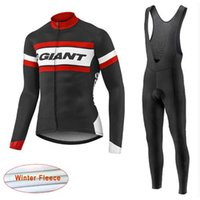 Wholesale Cycling Jersey Suit Giant - New Team giant Cycling Jersey Sets Winter thermal Fleece Ropa Ciclismo hombre Quick Dry Cycling Suit Bicycle Racing Clothing C2204