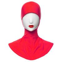 hijab intérieur écharpe achat en gros de-Gros-Bonnet Musulman Hijab Islamique Sous Foulard Cap Cou Couverture Inner Head Wear Hot