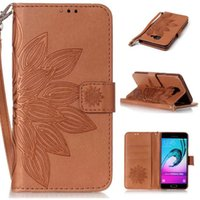 Wholesale new leather phone case online - Brand New embossed print Leather Wallet Flip Phone Cover Case for Samsung A310 A510 J5 J310 J510 J710 SONY XA LG K7 K8