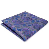 CH14 Dark Grey Purple Abstract Seide Jacquard Woven Mens Einstecktuch Classic Fashion Accessory Hanky