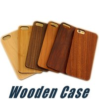 Wholesale Iphone Wood Plastic Case - Real Wood Case For iPhone X 8 7 6 6S Plus Cover Nature Carved Wooden Bamboo Wooden+PC Case For iPhone 5 5S SE Phone Shell