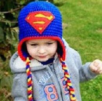 Captain America Superman Spider-Man Iron Mann Batman Super Hero Häkeln Tier Cap Säugling Kleinkind Baby Mädchen Mädchen Hut Weihnachten Kinder Beanie