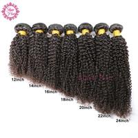 bakire kıvırcık afro örgü toptan satış-Kinky Kıvırcık Bakire Saç Brezilyalı Virgin İnsan Saç Afro Kinky Kıvırcık Bakire Saç 3 Demetleri / Lot Brezilyalı Kinky Kıvırcık Örgü