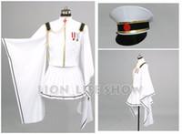 Wholesale Miku Hatsune Hat - Vocaloid Hatsune Miku Senbon Sakura White Miku Cosplay Costume With hat gloves