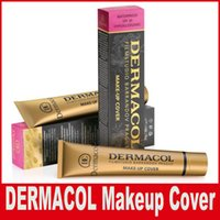 Wholesale Cheap Skin Creams - Dermacol Base Make up DERMACOL Makeup Cover Extreme Covering Foundation Hypoallergenic Waterproof 30g Cheap Skin Concealer 14 color