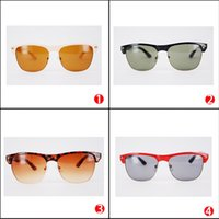 Wholesale Bicycle Beach - Wholesale Brand Designer Sunglasses for Woman and Man Retro Rectangle Driving Sun Glasses Black Reflective Tortoise Bicycle Sunglasses Sale