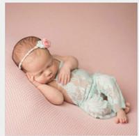 accesorios de fotografía recién nacido de la vendimia al por mayor-2017 mameluco de encaje para bebé recién nacido Fotografía Prop ropa niño Foto Prop mamelucos Vintage Baby Romper Cute Clothings