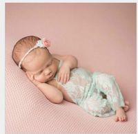 Wholesale vintage boys clothing - 2017 newborn baby lace romper Photography Prop clothes boy Photo Prop rompers Vintage Baby Romper Cute Clothings