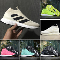 Wholesale White Bootie - Casual Shoes Ace 16+ PureControl Ultra Boost Black White Solar Yellow Men Running Shoes Sneakers Originals Runner Primeknit Mid Socks Bootie