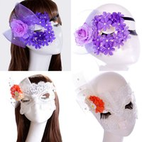 Wholesale masquerade diamond for sale - Group buy Flowers Sexy Diamond Lace Party Masks Girls Women Masquerade Mask Venetian Half Face Mask Christmas Halloween Cosplay Eye Masks WX M13