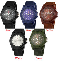 Wholesale Cool Military Watches - 100pcs fashion mens nylon fabric Military Sports Gemius ARMY Watch casual men quartz wrist watch cool style Analog wristwatch