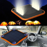 Wholesale Suction Cup Sticker - 100% Original Window solar charger with flashlight Waterproof Solar Power Bank 5600mAh Dual USB charger with Suction Cup Sticker