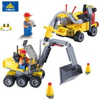 Wholesale Kazi Educational Toys - Wholesale- Kazi 6092 City Construction Excavator Building Block sets Compatible all brand City Toys Brinquedos Educational Bricks Gift