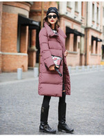 Wholesale Womens Leather Down Jacket - Special Color Leather Pink Color Adorable Winter Womens Down Jackets Winter Coat Down Coat Middle Long Slim Warm Women Winter Outwear
