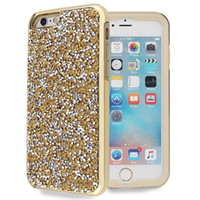 Wholesale Diamond Mobile Phone Cover - Luxury Bling Electroplating Sequin Armor Phone Case For iPhone 6 Plus Glitter Diamond Hard Back Cover Mobile Phone Case For iPhone 6s Plus