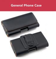 iphone mais 5.5 flip venda por atacado-Para iphone x 7 8 além de sony lg samsung galaxy s8 além de note8 5.5 4.7 5.1 Polegada Geral Clipe De Couro Caso Holster Flip Bolsa Horizontal