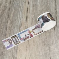 Wholesale Deco Paper Vintage - Wholesale- 2016 Retro Picture Frame Vintage Washi Tape Paper Masking Tapes Party Decorative Stickers Diary Deco Scrapbooking Sticker
