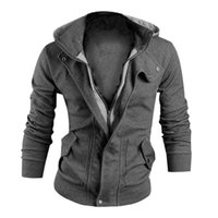 Wholesale Wholesale Jackets Soft Shell - Wholesale- Men's Warm Hooded Coat Men Brand Clothing Long Sleeve Jacket Soft Shell Plus Size Bomber Jacket for Men Winter Casual Sweatshirt
