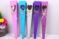 Wholesale Single Boxed Rose - New valentine gifts artificial flowers jewelry Single Soap Rose With Glitter Powder Bow Hollow Out Box High Quality For Wedding Decoration