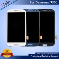 Wholesale Galaxy S3 Test Lcd - All Tested Black White Blue LCD Screen Replacement For Samsung Galaxy S3 LCD Full Assembly For Samsung S3 LCD No Frame Free Shipping
